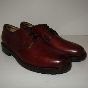Red Leather FRYE Bud Lace Oxfords Casual Shoes